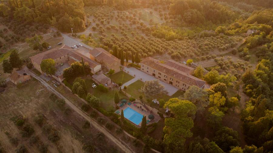 villa piaggia view from the drone