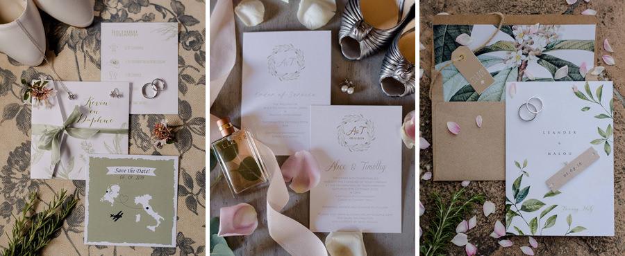wedding invitations different styles