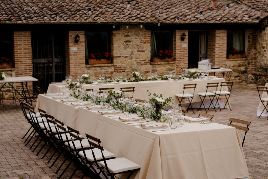country tuscan wedding style tables setting