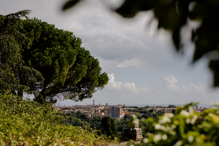 View of the city of Siena from the terrace of Le Volte di Vicobello, Siena
