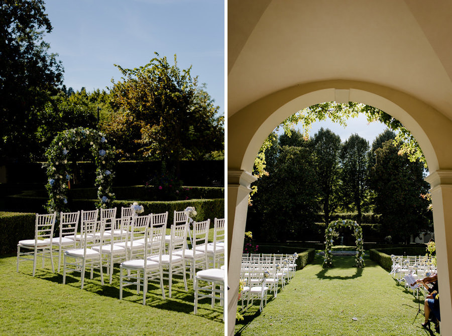 Details of ceremony in the garden of Villa La Vedetta