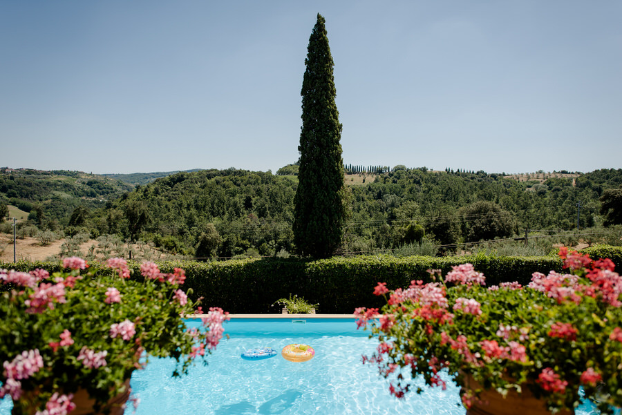 Swimming pool of Villa Piaggia Montaione
