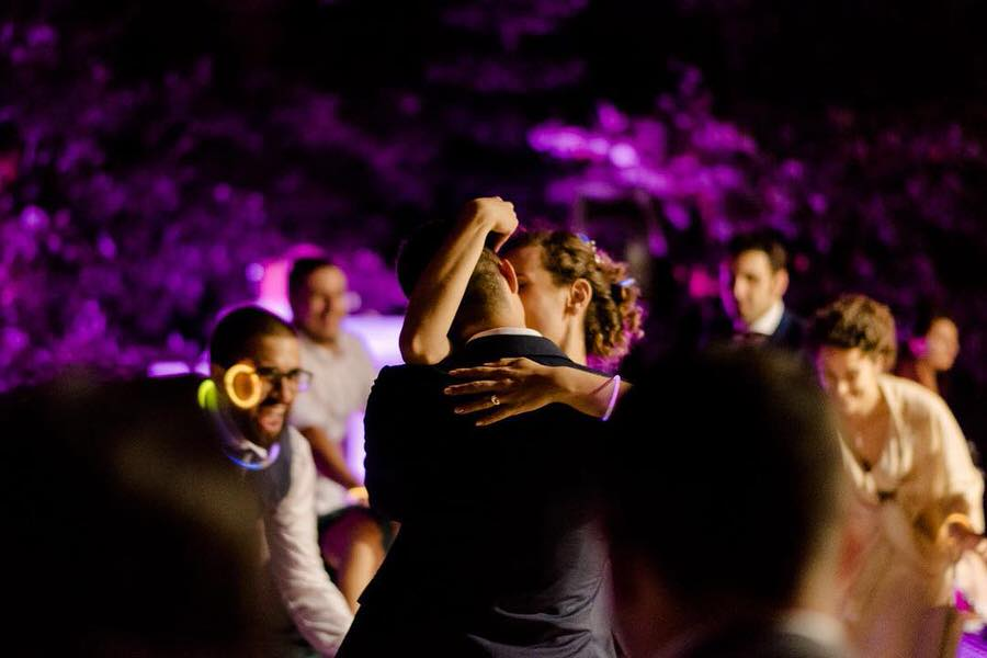 wedding couple dancing together during the first dance