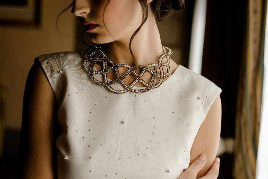 bridal lace neck