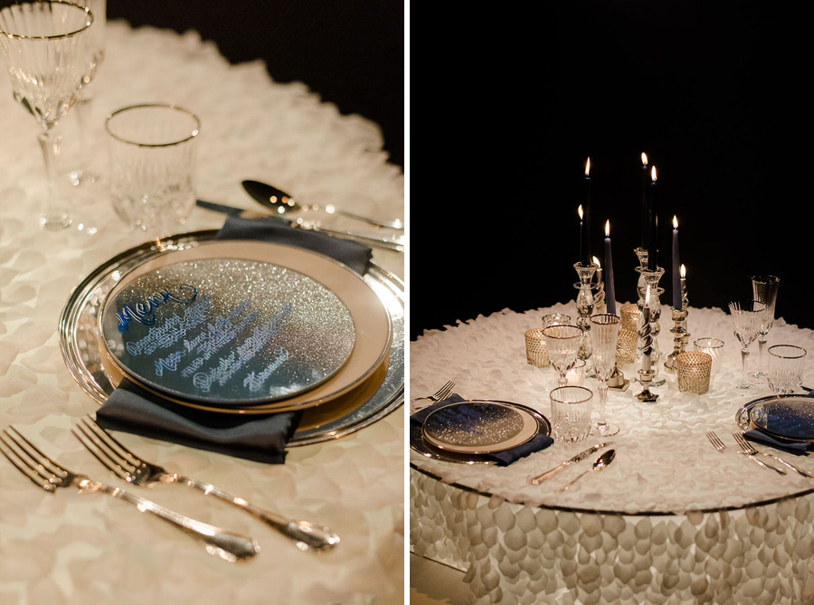 details of wedding table