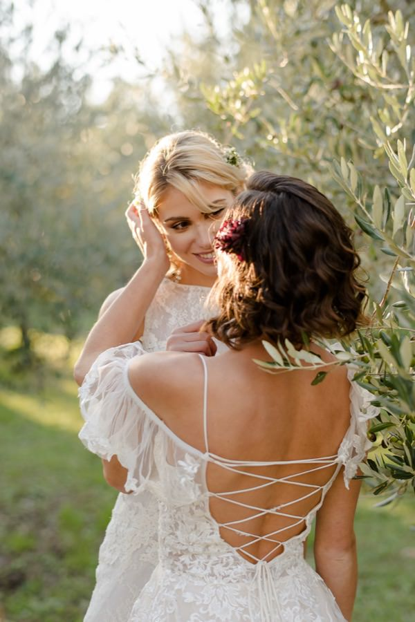 wedding couple in tuscany