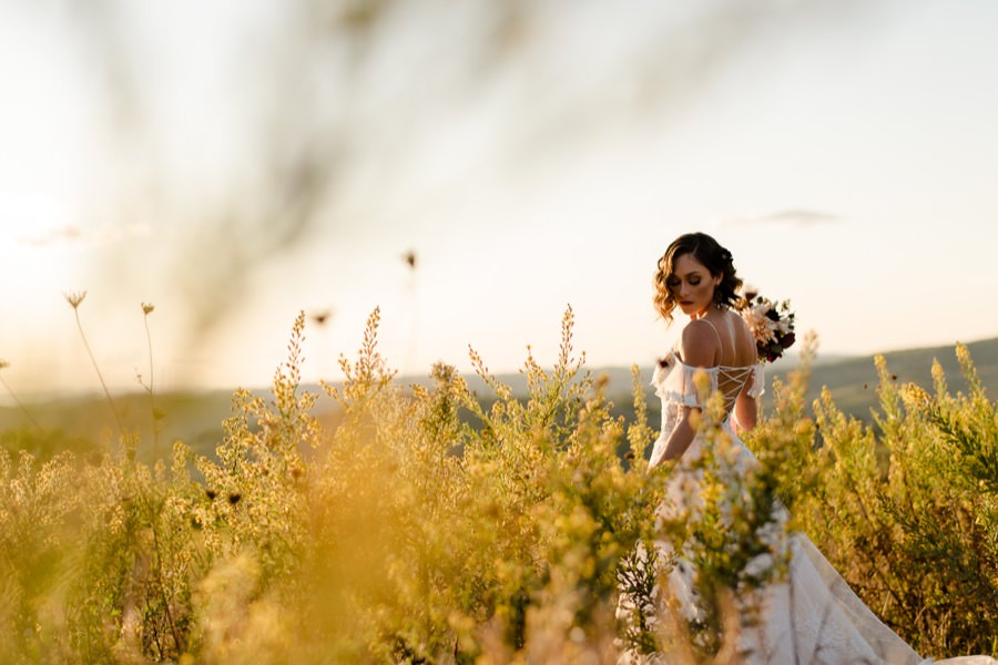 bride portrait in tuscany