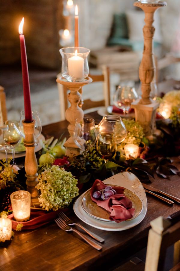 wedding decorations in tuscany